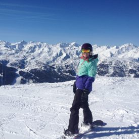 Snowboarding in Courchevel