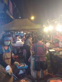 Busy street chefs
