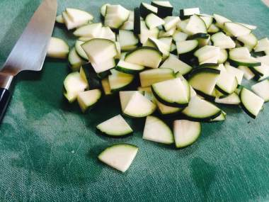 Chopped courgette
