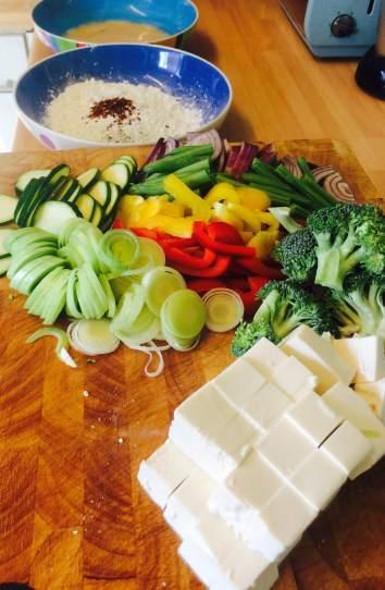 Veg and tofu prep