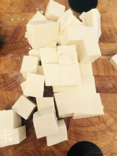Diced silken tofu