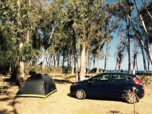 Polis campsite