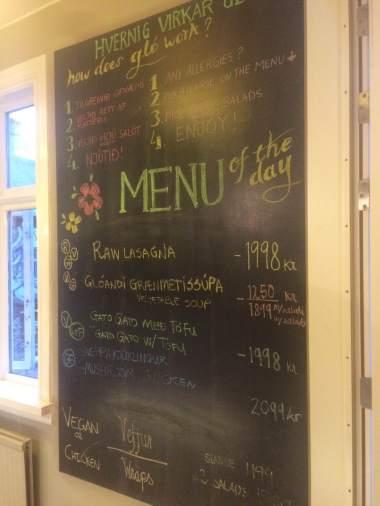 Glo menu