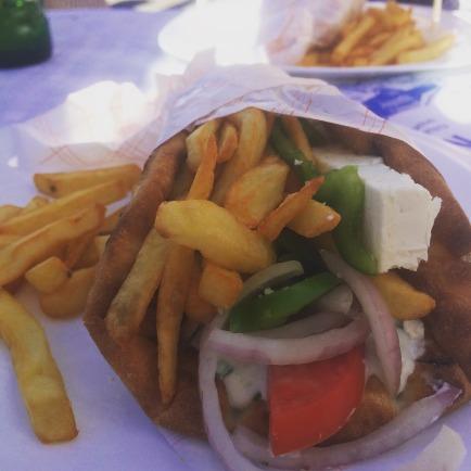 Vegetarian feta gyros