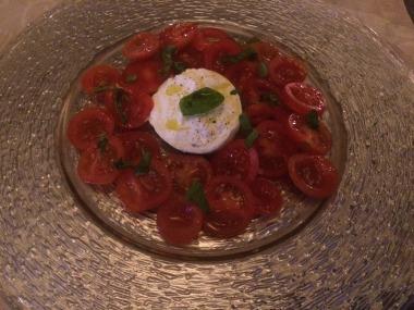 Calprese salad with Burrata