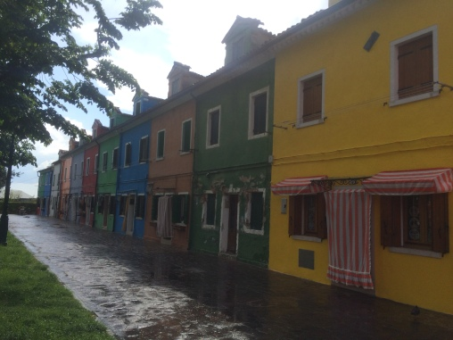 Colourful street in Burano