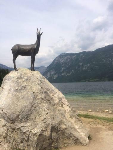 Famous statue on Lake Bohinj