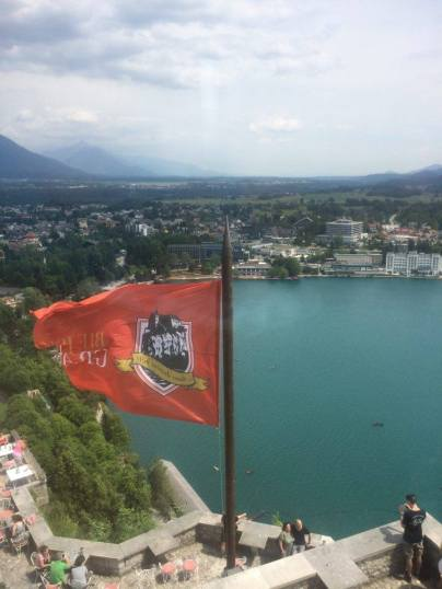 View from Bled Castle restaurant