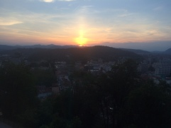Sunset from the castle