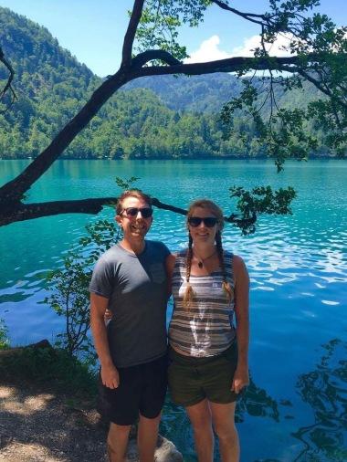 Pete and I enjoying Bled