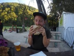 Pete loving his kebab