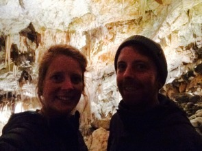 Pete and I in the white cave