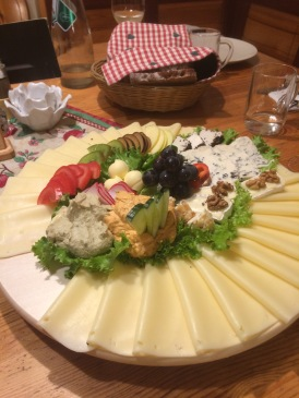 Giant cheese platter