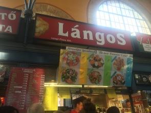 Langos market stall