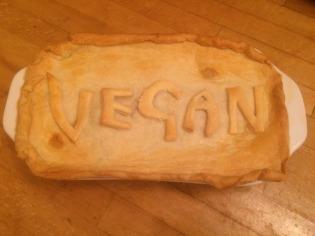 Cooked vegan pie