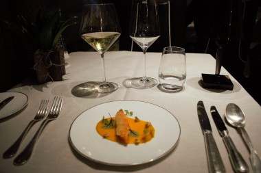 Carrot starter with wine pairing