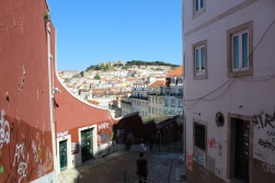 View down into Lisbon