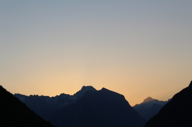 Sunrise over the Julian Alps