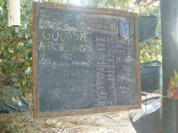 Camp info board