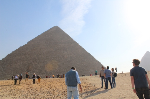 First glimpse of the pyramids