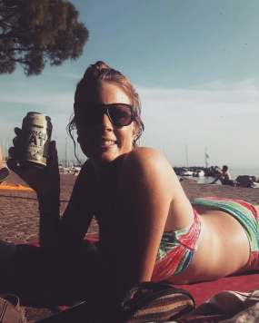 Sunbathing at Barcola beach