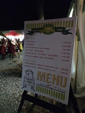 VVV menu